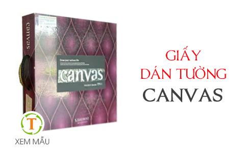 Mẫu giấy dán tường CANVAS
