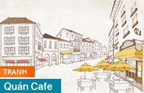 tranh quan cafe